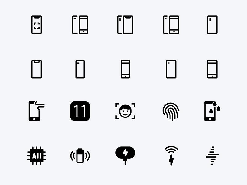 60个苹果设备图标 .sketch素材下载