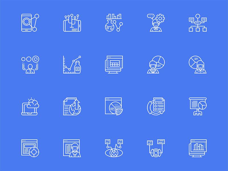 30个数据可视化图标 .sketch素材下载