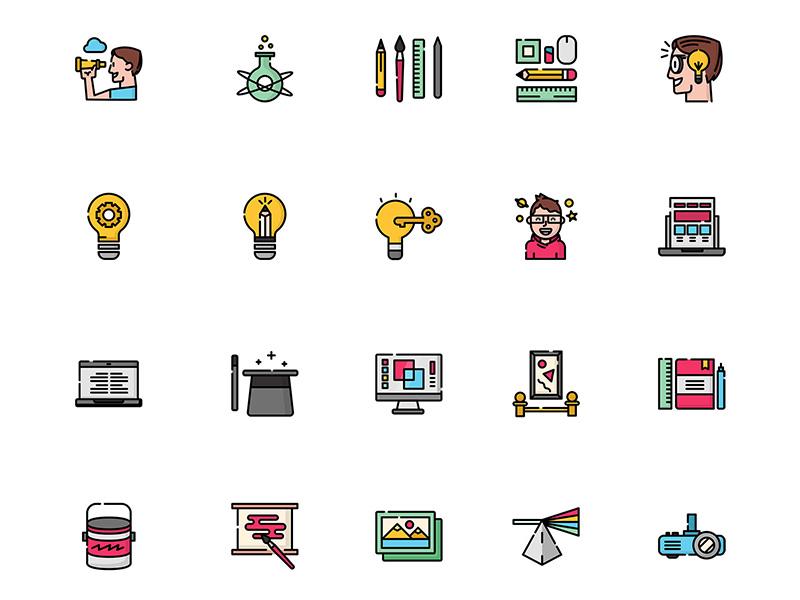 50个创意、设计相关图标 .sketch素材下载