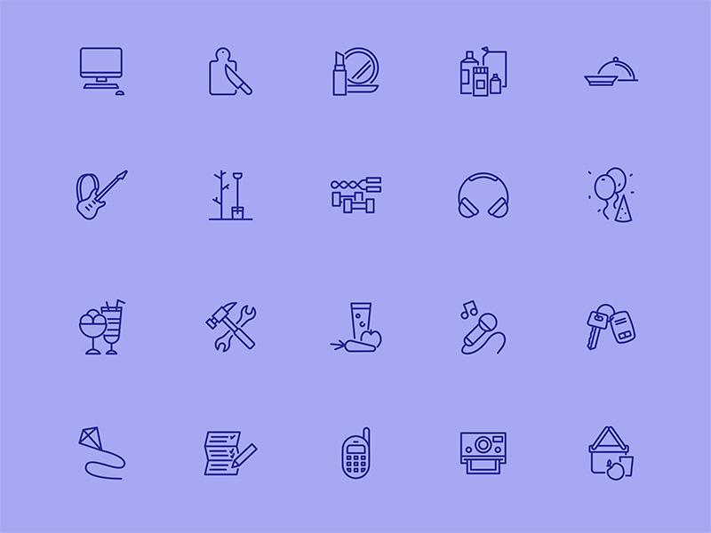 50个生活方式图标 .sketch素材下载