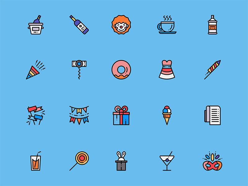 50个生日主题图标 .sketch素材下载