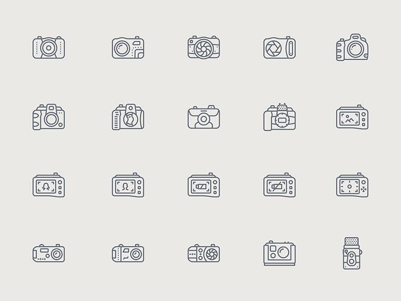 100个摄影设备图标 .sketch素材下载