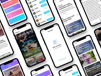 ios新闻app ui kit .sketch .psd .xd .fig素材下载