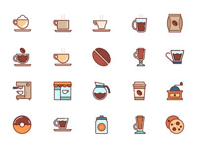 50个咖啡相关图标 .sketch素材下载
