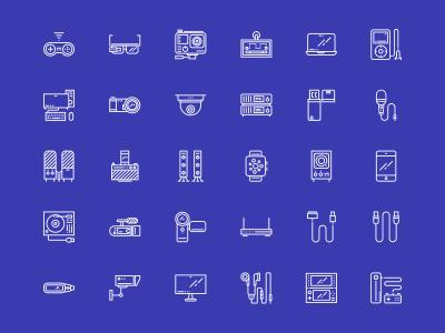 50个电子设备图标 .sketch素材下载