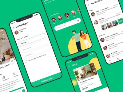 租房app UI kit prop finder .sketch素材下载
