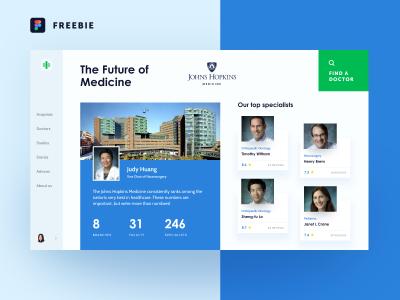 医院网站模板 .fig素材下载