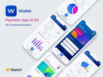 Wallet 理财支付钱包app ui .sketch素材下载
