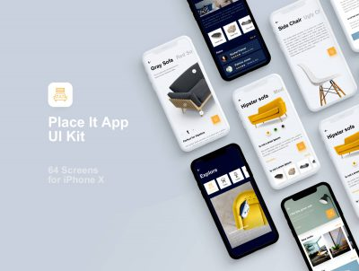 place it 家具UI kit .sketch素材下载