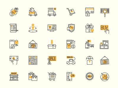 30个电商、零售图标 .sketch素材下载