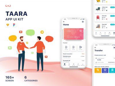 TAARA APP UI kit sketch素材下载