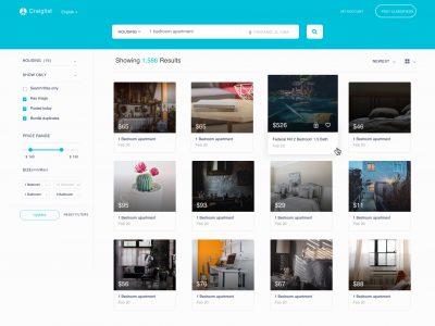 分类网站页面UI .sketch素材下载