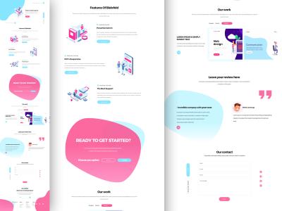 创意设计机构网站落地页 .sketch素材下载