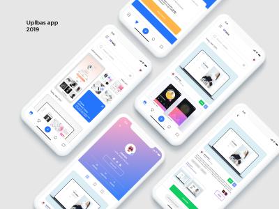 设计社交app uplabs ui 设计概念稿 .xd素材下载