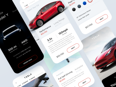 Tesla Model Y app Concept Ui  .fig素材下载