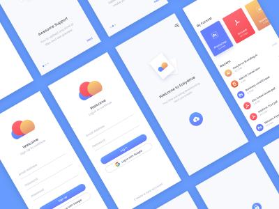 简洁云盘app easeCloud ui .xd素材下载