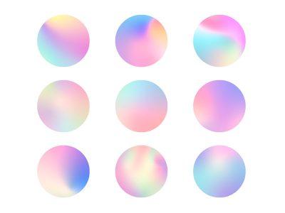 炫彩珍珠粉渐变配色方案 .eps素材下载