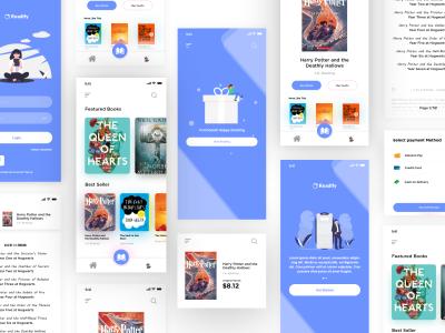 书籍电商app ui .xd素材下载