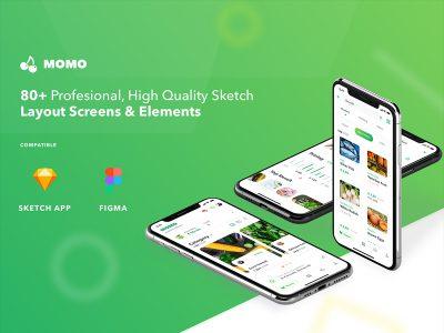 农产品电商app ui kit MOMO .fig .sketch素材下载