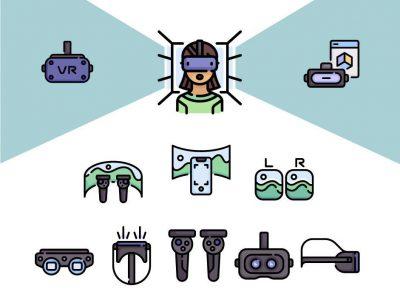 一组VR相关元素图标 .svg .png素材下载