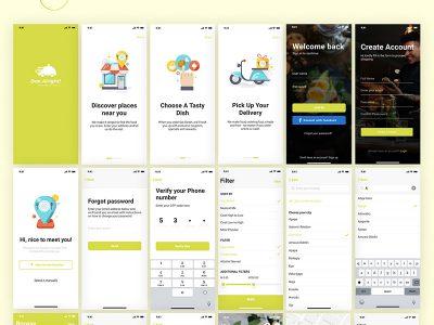 餐厅酒店成套网站、app ui Dae Alright! UI Kit .fig素材下载