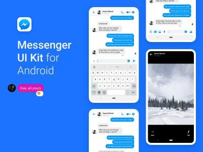Facebook Messenger UI Kit for Android  聊天app .sketch素材下载