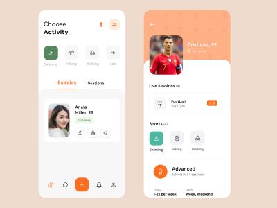 体育赛事app ui concept .sketch