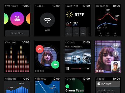 智能手表 smart watch app ui .xd素材下载