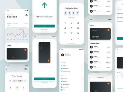 成套手机银行app ui .xd素材下载