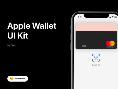 成套apple wallet 苹果钱包app ui .sketch素材下载