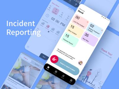 事件报告app .xd素材下载