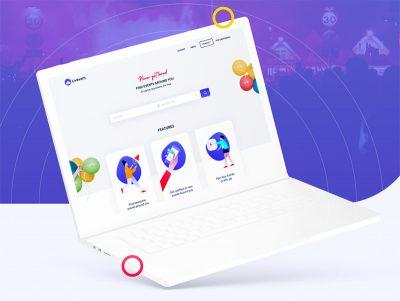Live Event 网页模板 & app ui .xd素材下载