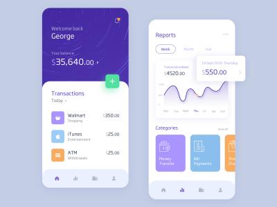 银行金融app ui .xd素材下载