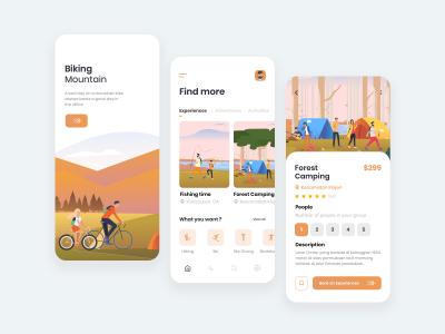 旅游app ui .sketch素材下载