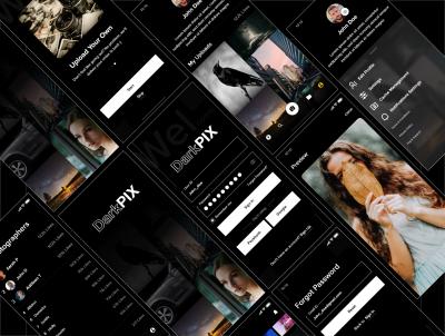 DarkPIX 图片集类app ui .xd素材下载