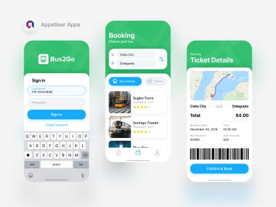 汽车票务app ui .xd素材下载