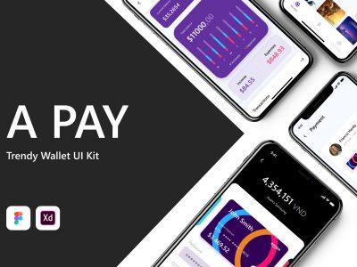 Apay 支付、钱包app .xd .fig素材下载