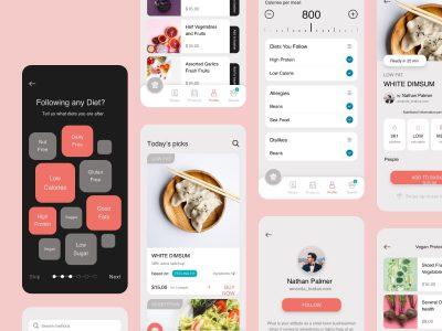 美食、食谱app ui .sketch .fig素材下载