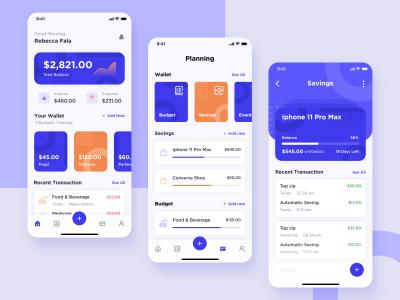 个人资金管理app ui .fig素材下载