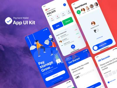 成套钱包、支付app ui .xd素材下载