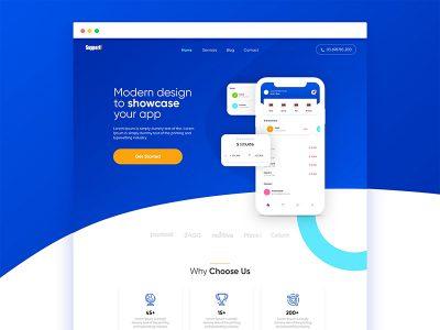 app介绍网站落地页模板 .psd素材下载