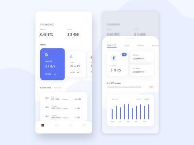 数字货币app dashboard .sketch素材下载