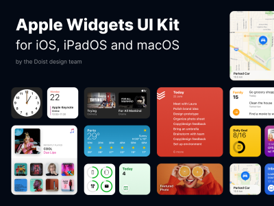 apple IOS 14桌面组件ui .fig素材下载