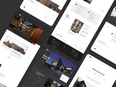 建筑设计、室内家居网站成套模板 .xd .sketch .fig素材下载