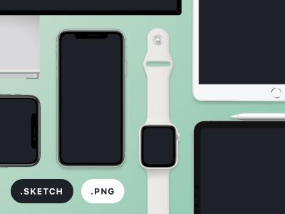 全系apple产品设备mockup .png .sketch素材下载