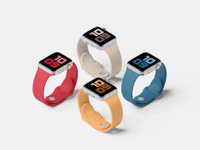 Apple Watch Series 5 Set Mockup .psd素材下载