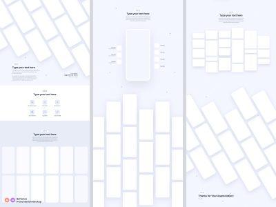 Behance app ui设计展示贴图模板–2 .ai .xd素材下载