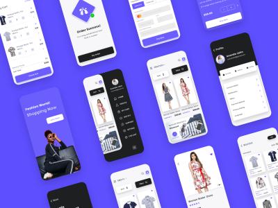 时装电商app ui .xd素材下载