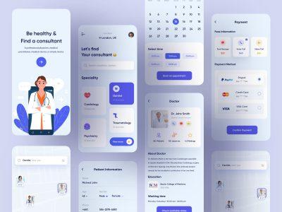 医院医疗app ui .xd素材下载