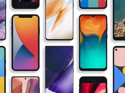 一组iphone、google手机、mac苹果电脑设备样机mockup .fig素材下载
